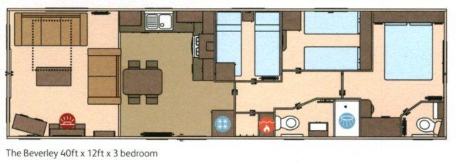 ABI Beverley static caravan floorplan
