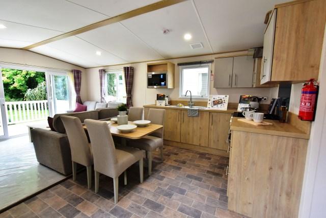 2019 ABI Beverley static caravan kitchen