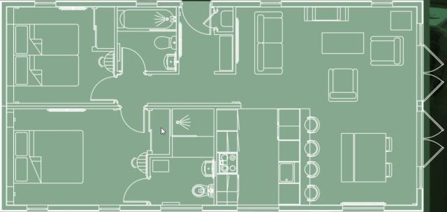 2019 Pathfinder Retreat lodge floorplan