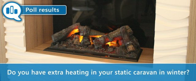Extra heating in static caravan