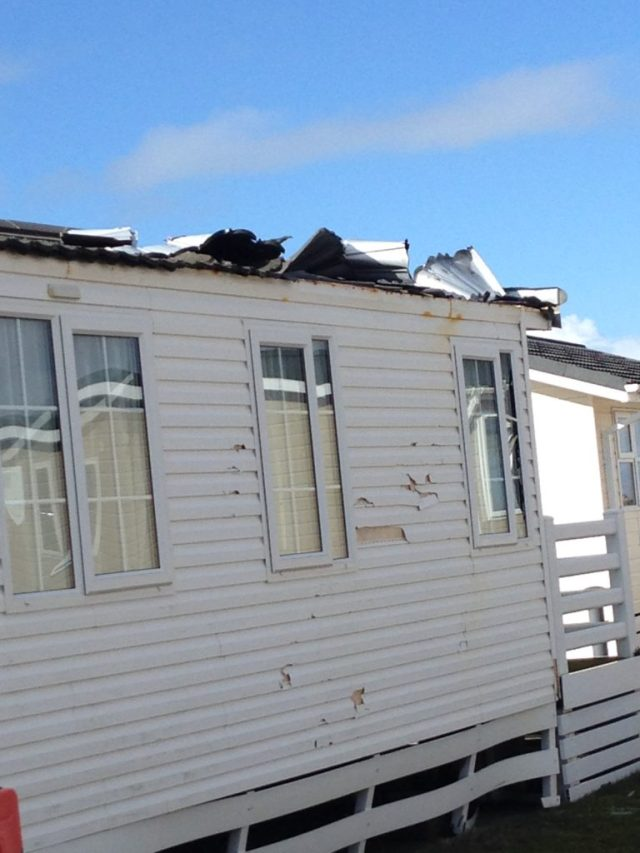 static caravan insurance claim for storm damage