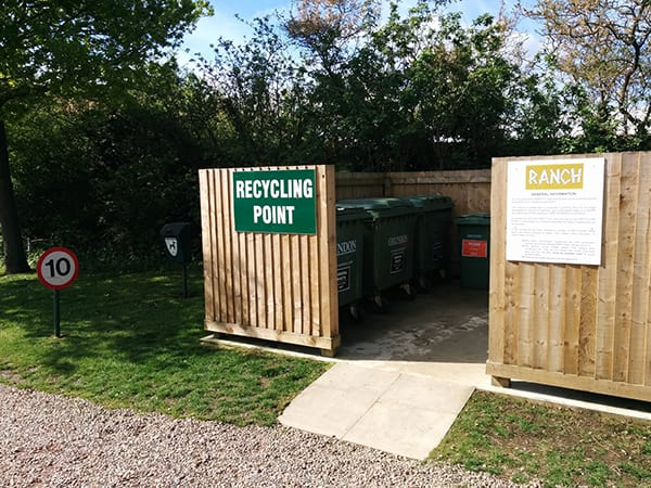 Holiday park recycling