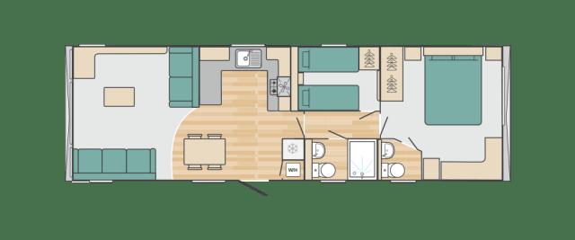 2020 Swift Bordeaux floorplan