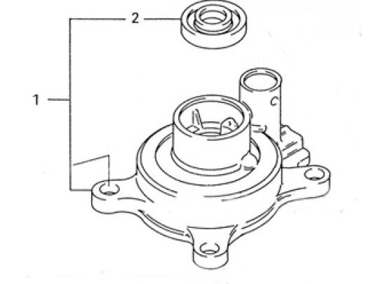 Suzuki Outboard Motor Water Pump Case 40-50 PN 17410-95D11