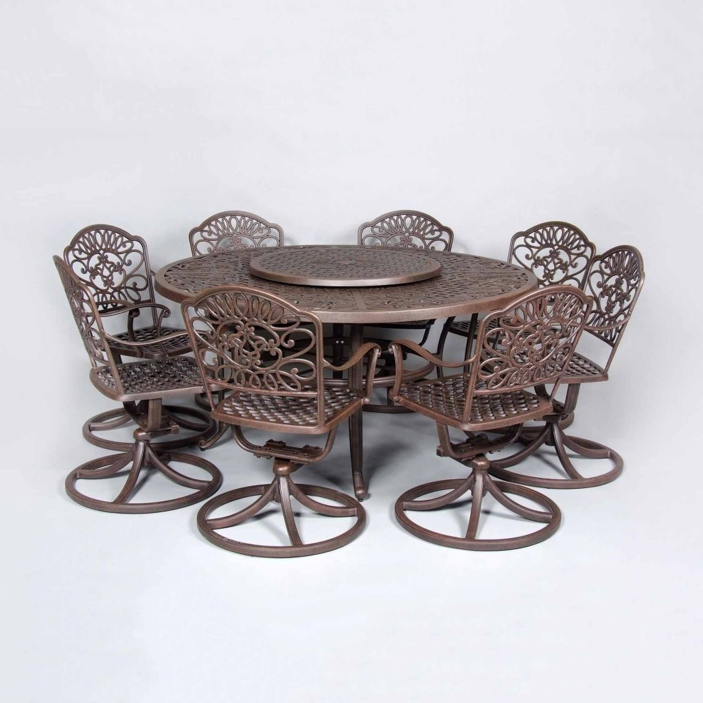 table with swivel chairs for school cast classics brenna 60 quot round dining leisure living