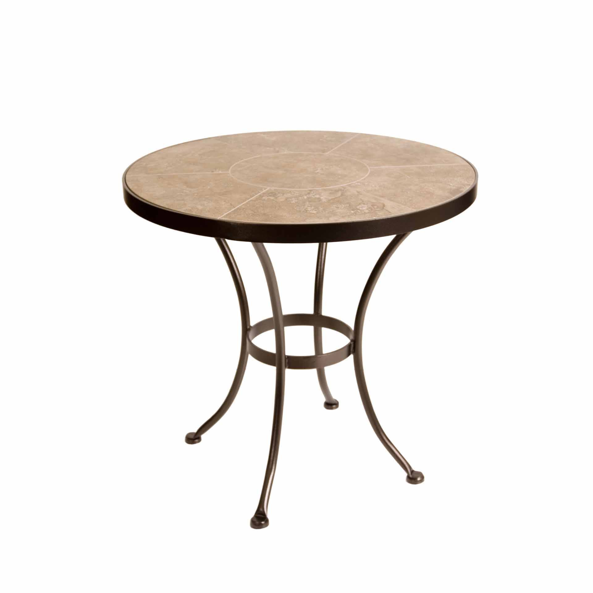 OW Lee 30 Round Porcelain Dining Table  Leisure Living