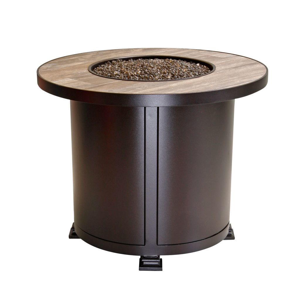OW Lee Casual Fireside 30 Round Santorini Chat Fire Pit