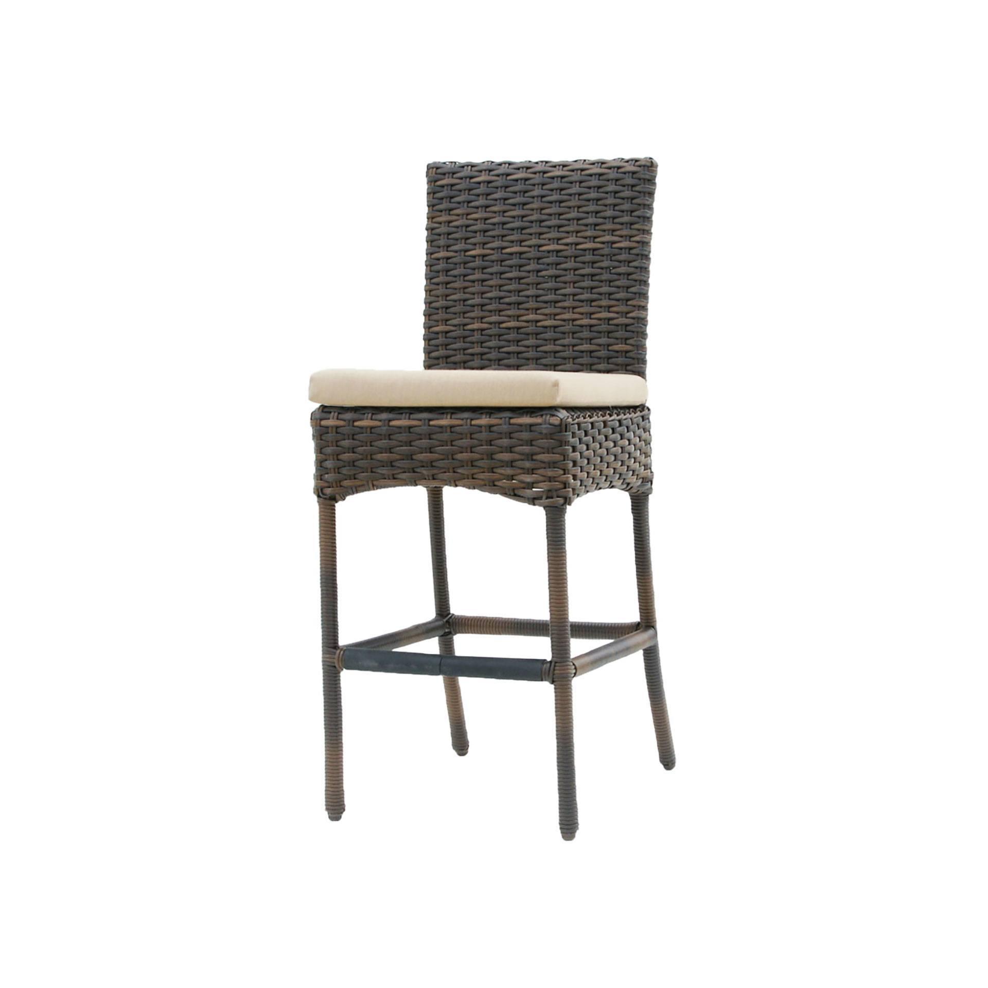 patio high back chair cushions power recliner chairs canada ratana portfino bar stool - leisure living