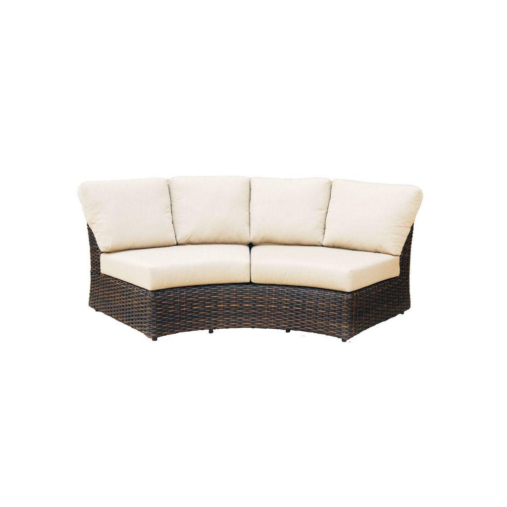 wedge table for sectional sofa garden corner covers ratana portfino leisure living