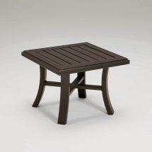"""Tropitone Banchetto 24"""" Square Tea Table - Leisure Living"""