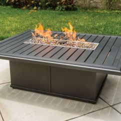 "Sling Outdoor Sofa Single Bed Toronto Tropitone Banchetto 54x42"" Rectangular Fire Pit - Leisure ..."