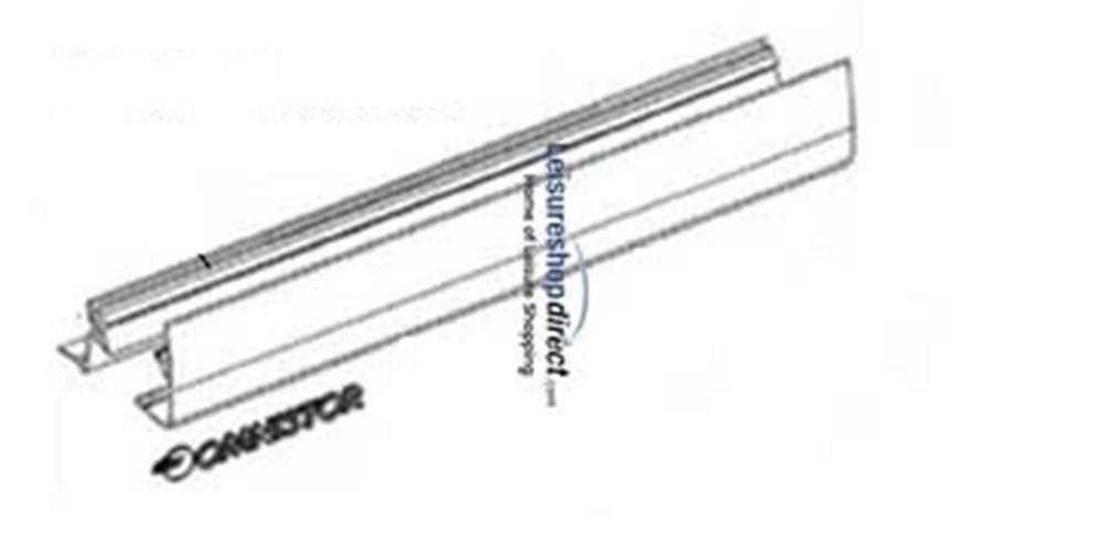 Omnistor 5002 Awning Outside and Inside Lead Rail White 1