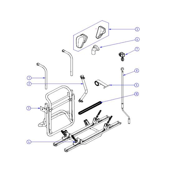 Omnibike winding handle for the manual lift bike rack