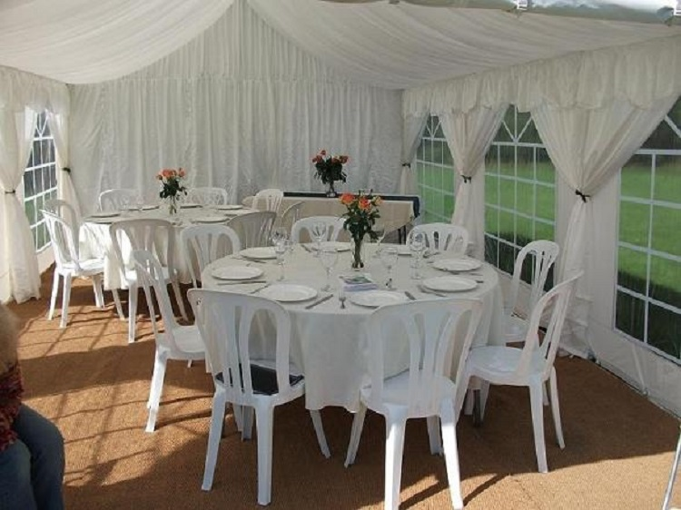 chair covers for hire parties outdoor glider parts 4m x 6m marquee roof lining to fit party tents/marquees - leisure time