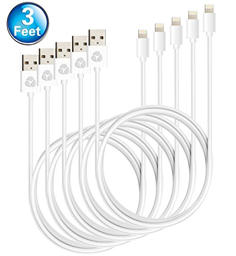 Hitobox 5 Pack Lightning to USB Cable Apple Charger for