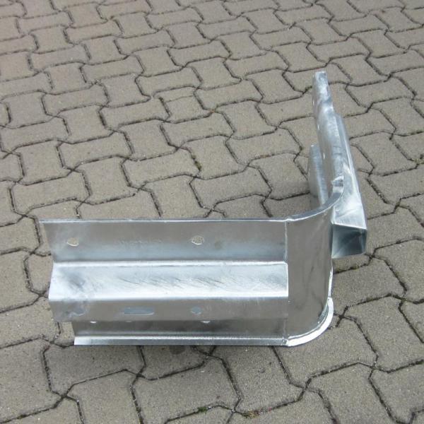 Innenwinkel Plankenholm Stahlschutzplanken