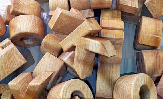Lettere di legno fai da te  LEITV