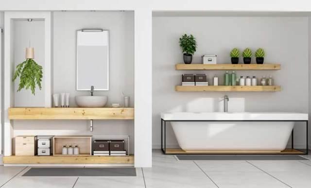 Alfombras, desde la cocina hasta el baño, a través de la sala de estar