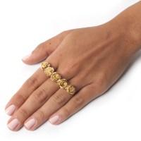 Flora Knuckle Ring - Gold - LEIVANKASH - Jewellery