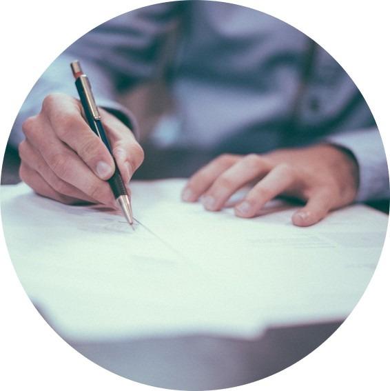 Underskrift af lejekontrakt