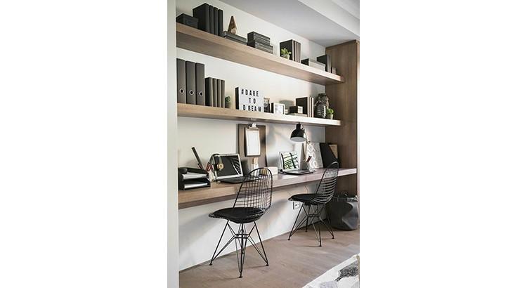 un coin bureau dans la chambre