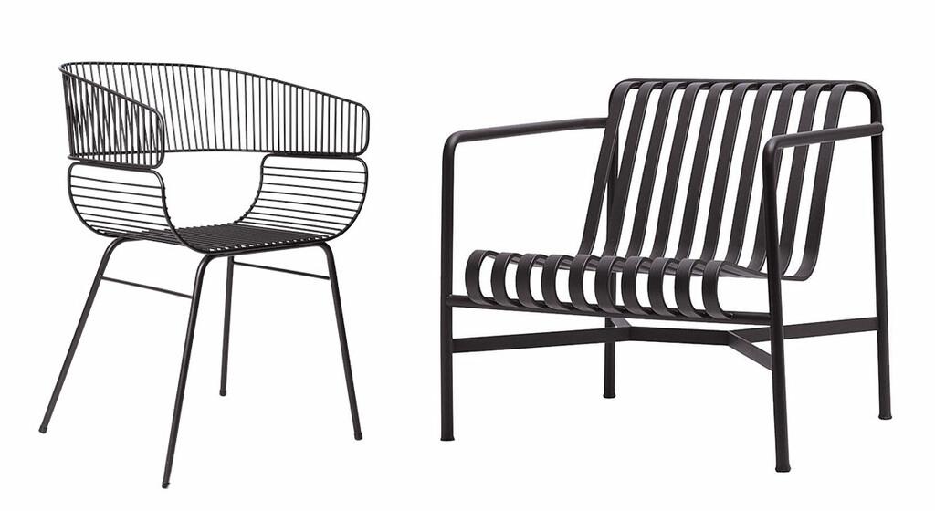chaises metal filaire design