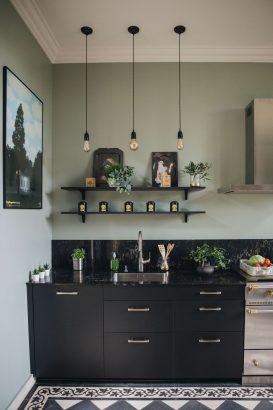 cuisine noire 39 inspirations deco