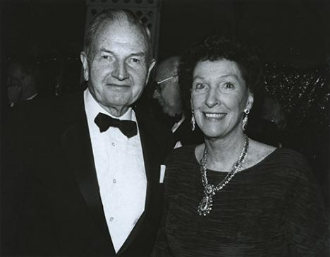 Peggy et David Rockefeller en 1987