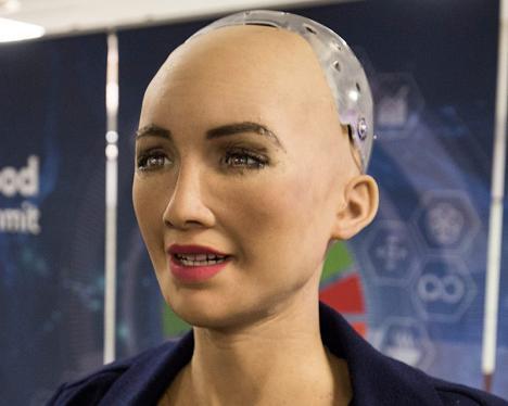 L'humanoïde Sophia « vend » sa première œuvre d'art pour près de 700 000 dollars