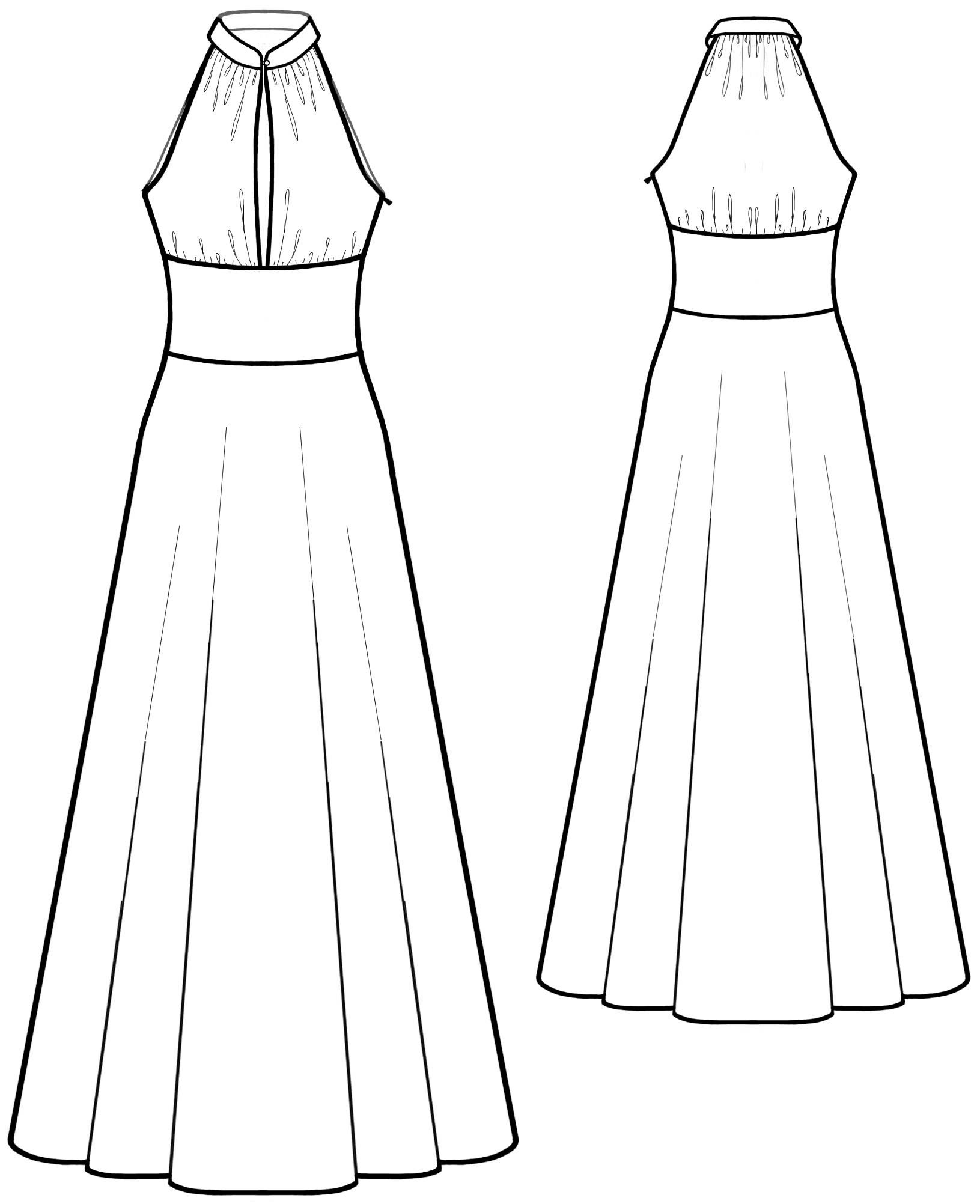 Dres With Stand Collar