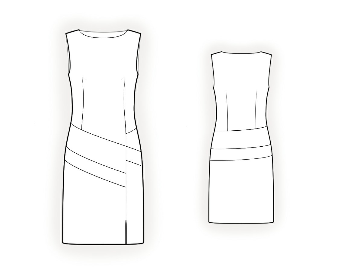 Dress With Color Insets