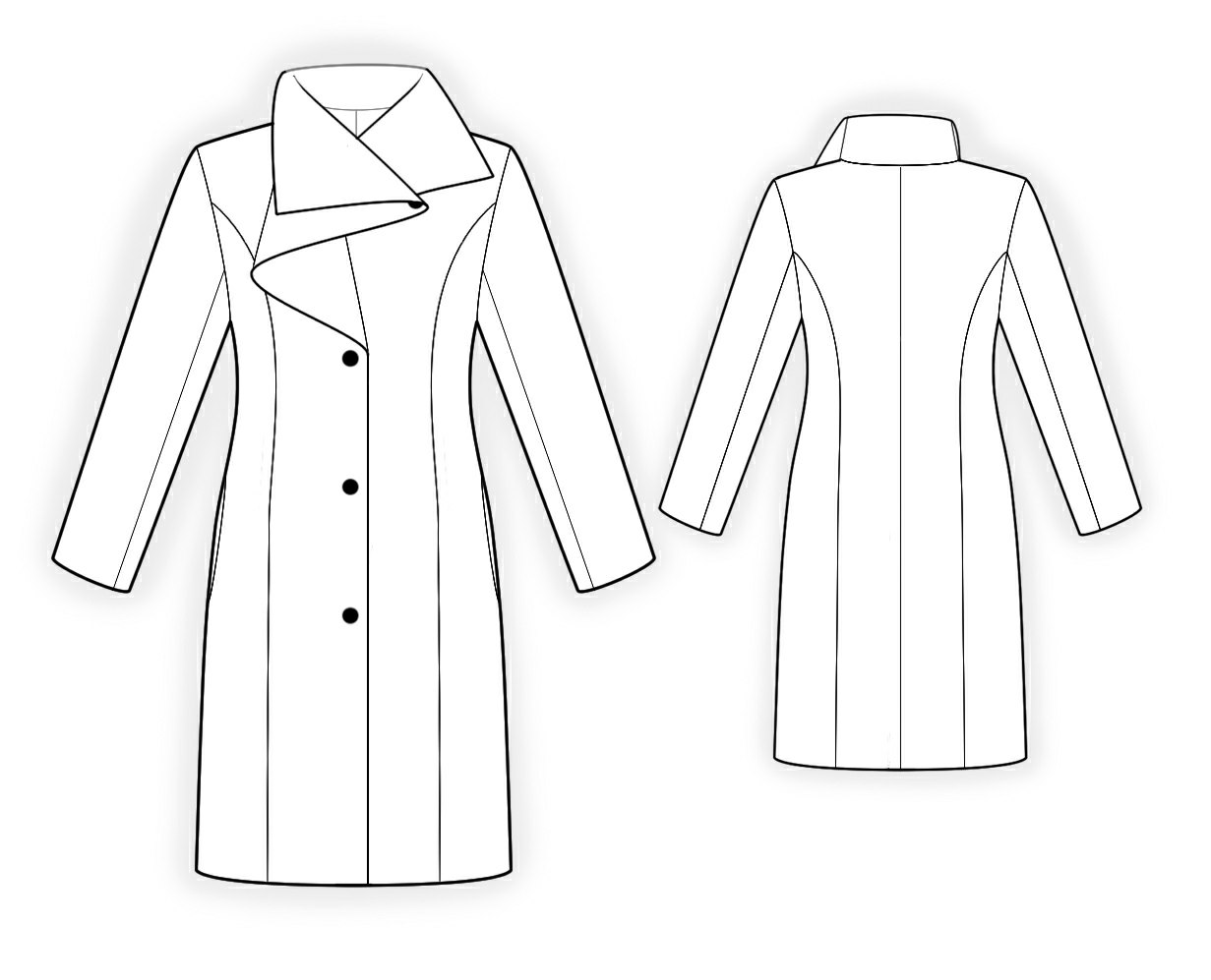 Coat With Shaped Collar