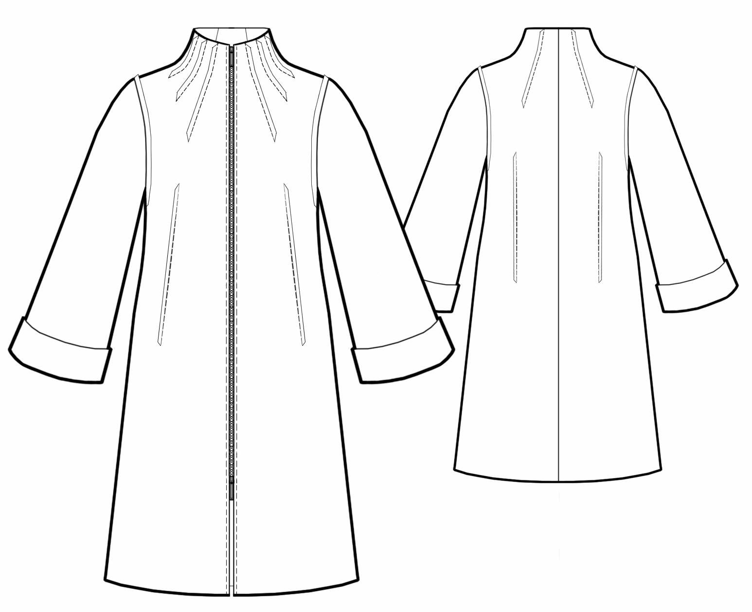 Raincoat With Stand Up Collar