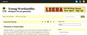Young Wordsmiths Online Magazine