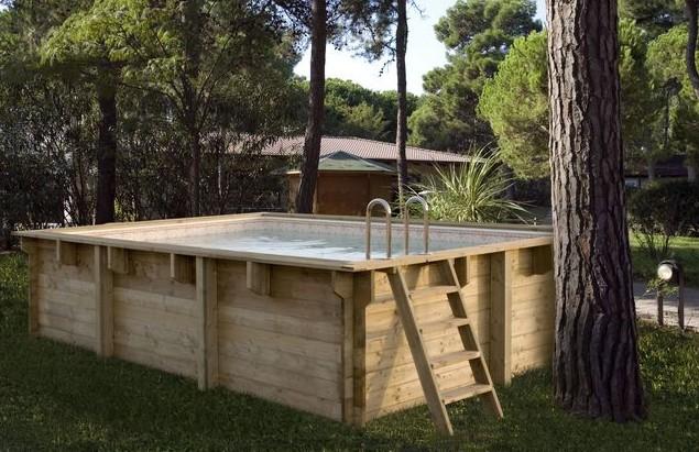 piscine bois hors sol rectangulaire luxe 420x320x131cm