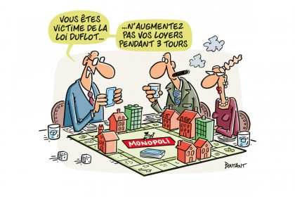 Bailleurs jouant au Monopoly