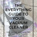 vacuum cleaner help guide