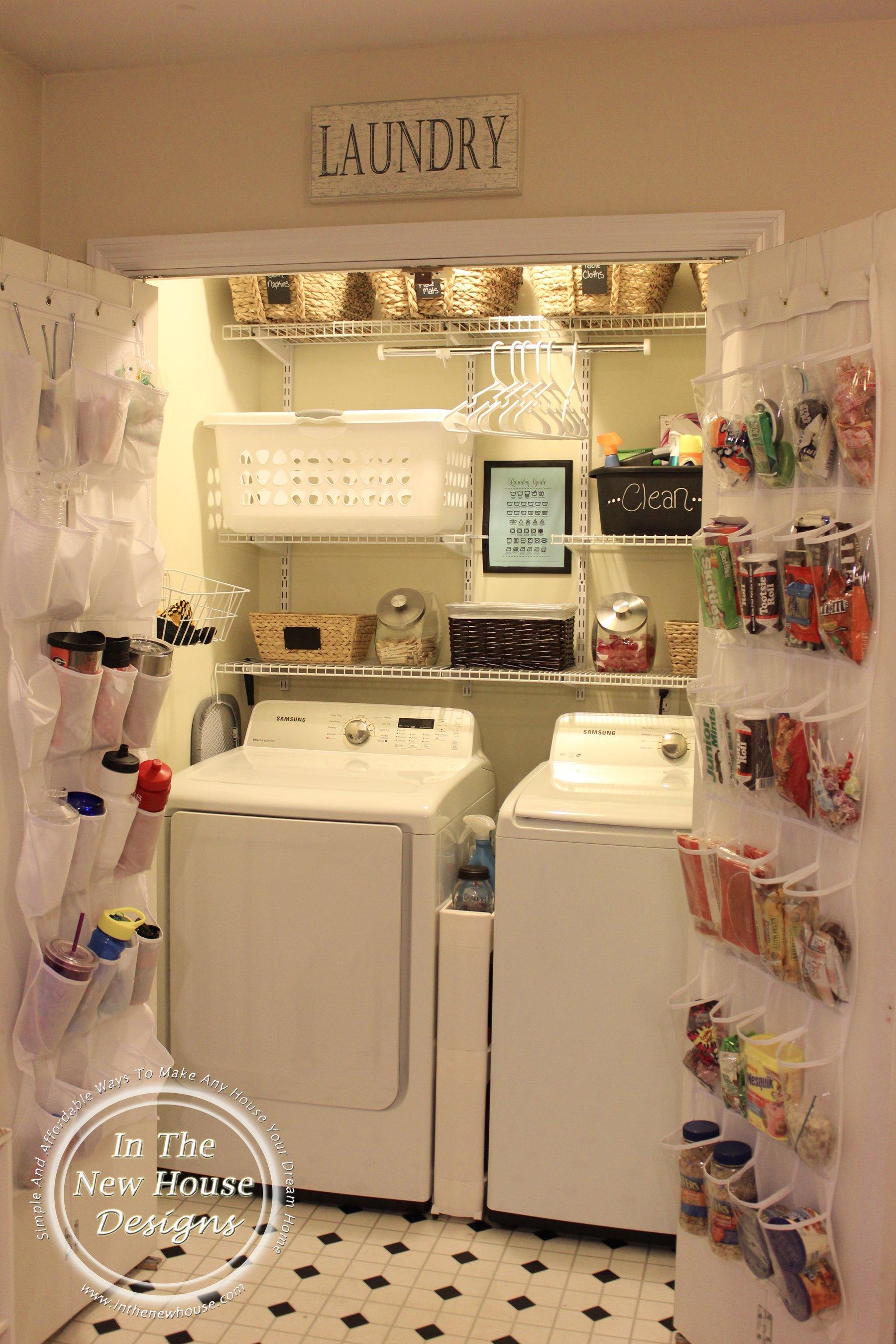 How To Organize A Small Laundry Closet Organized Ish By Lela Burris