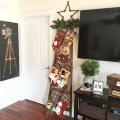 Vintage Ladder for Christmas Stockings