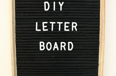 homemade diy wooden letterboard