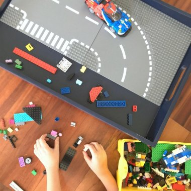 diy kids lego tray