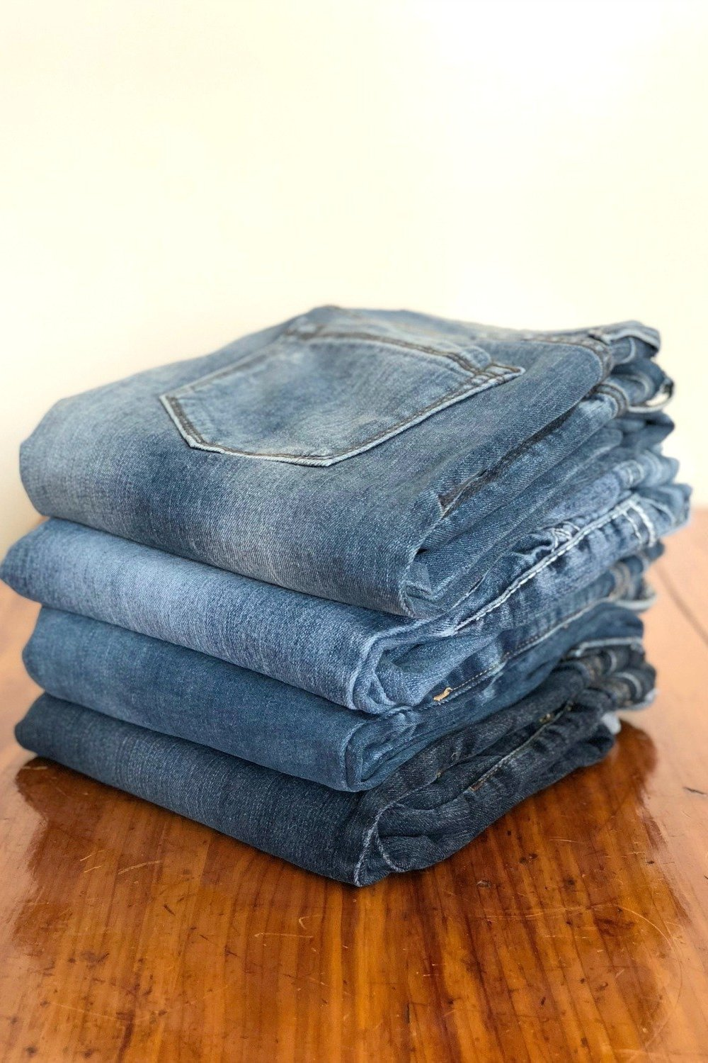 folding jeans for storage