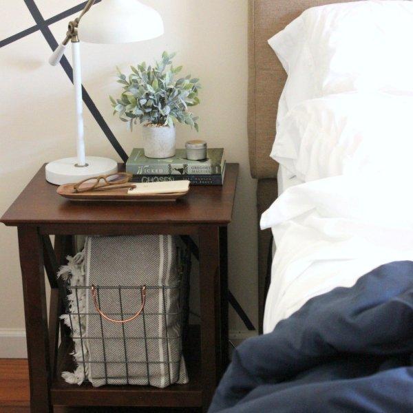 modern brown nightstand