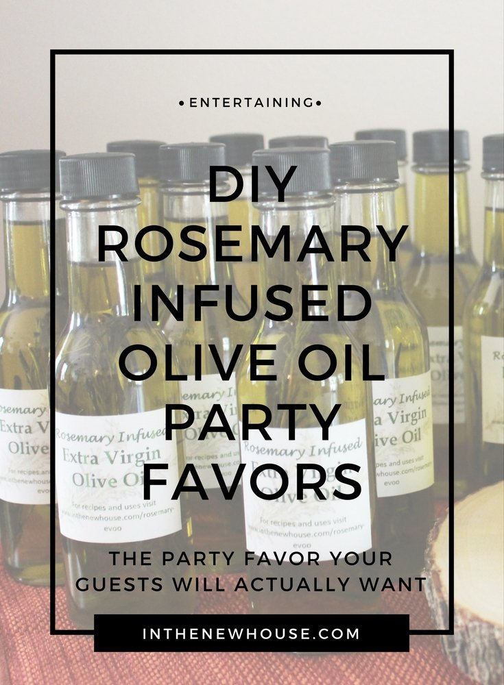 DIY Rosemary Infused Olive Oil Party Favors - Lela Burris