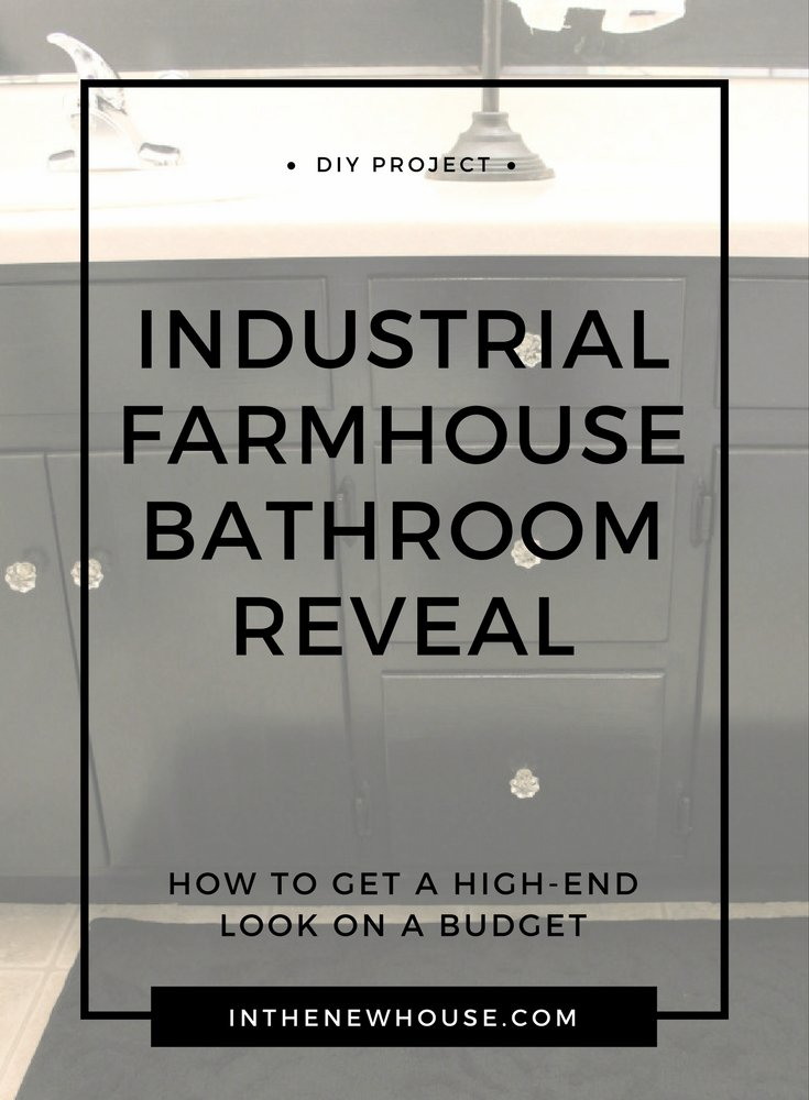 farmhouse indystrial bathroom decorating