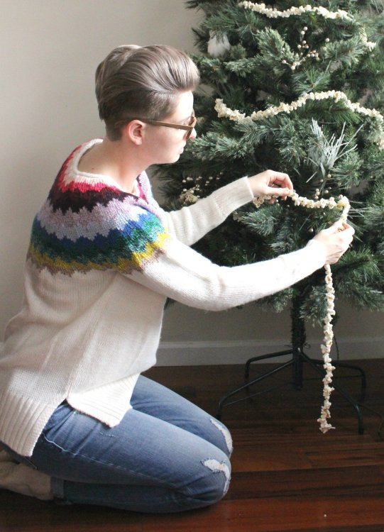 diy holiday tree popcorn garland. Lela Burris In the New House Designs
