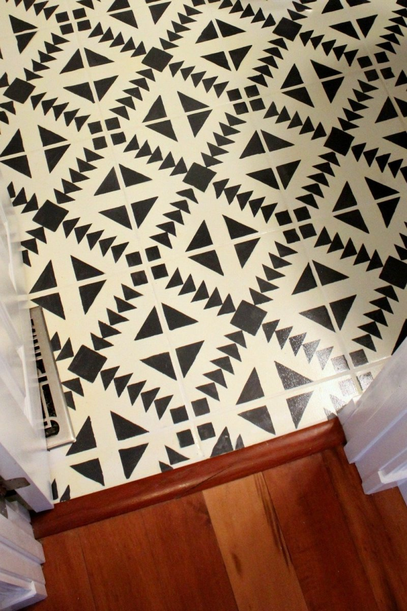 diy painted tile floor