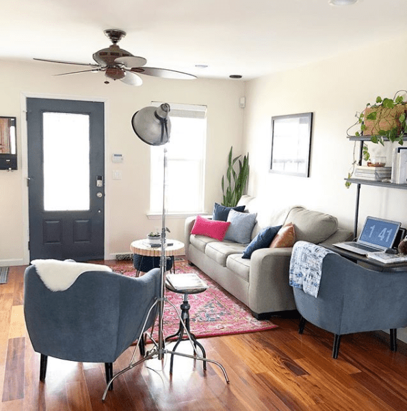 colorful cheerful living room