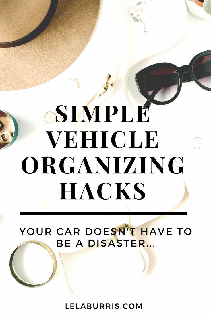Simple Vehicle Organization Hacks