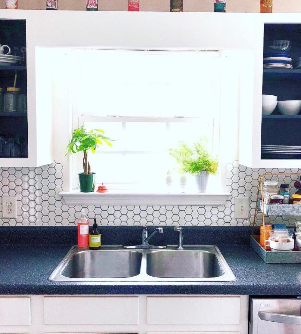 small galley kitchen window remodel